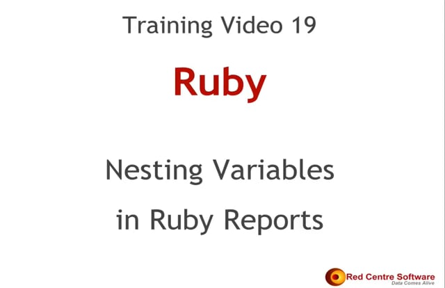 19. Nesting Variables in Ruby Reports