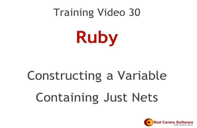 30. Constructing a Variable Containing Just Nets