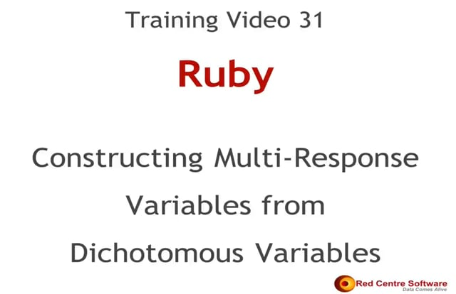 31. Constructing Multi-response Variables from Dichotomous Variables
