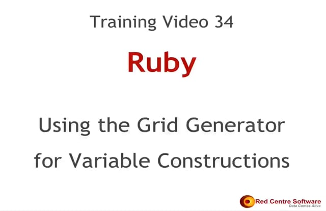 34. Using the Grid Generator for Variable Constructions