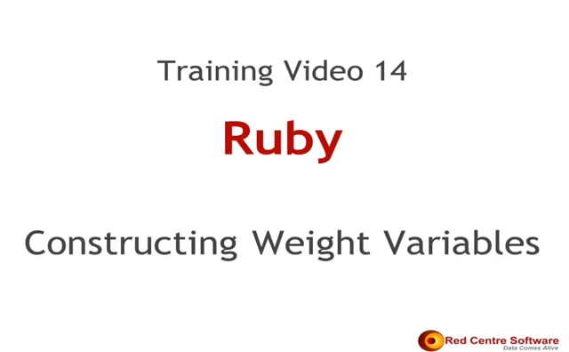 14. Constructing Weight Variables