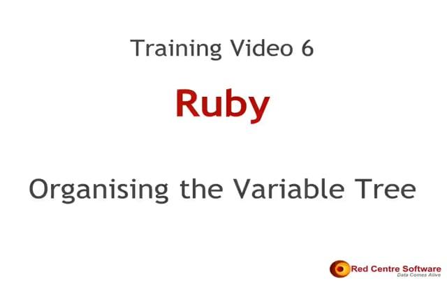 6. Organising the Variable Tree