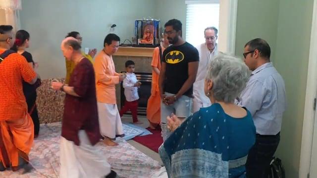 Kirtan at Vancouver Krishna Balaram Temple