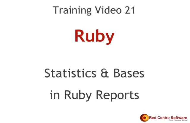 21. Statistics & Bases In Ruby Reports