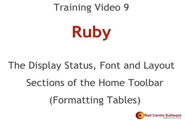 9. Formatting Tables