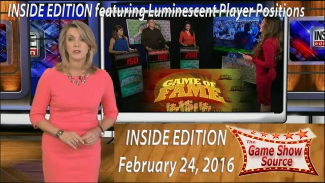 Game Show format used on INSIDE EDITION which aired February 24, 2016