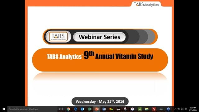TABS 9th Annual Vitamin Study (05/20/2016)