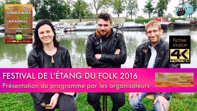 Decize fait sa télé, présentation de la seconde édition du Festival de l'Etang du Folk les 1 et 2 juillet 2016 à Chevenon.