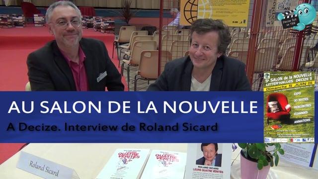 Decize fait sa télé au salon du livre avec Roland Sicard