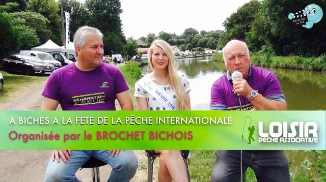 Decize fait sa télé à Biches, à la fête internationale de la Pêche organisée par le Brochet Bichois.