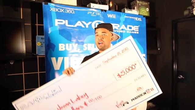Javon's big check