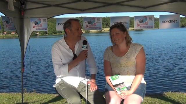 Decize fait sa télé à Lormes au festival de chanson francaise, interview de la gérante du camping de l' étang du Goulot.