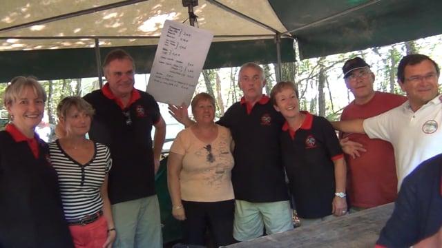 decize fait sa télé à la course de côte de Lormes-présentation d' une partie des  bénévoles