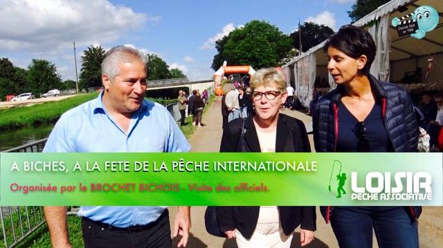 Decize fait sa télé à Biches, à la fête internationale de la Pêche, la visite des officiels.