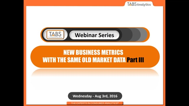 Part 3 - New Business Metrics with the Same Old Market Data (08/03/2016)