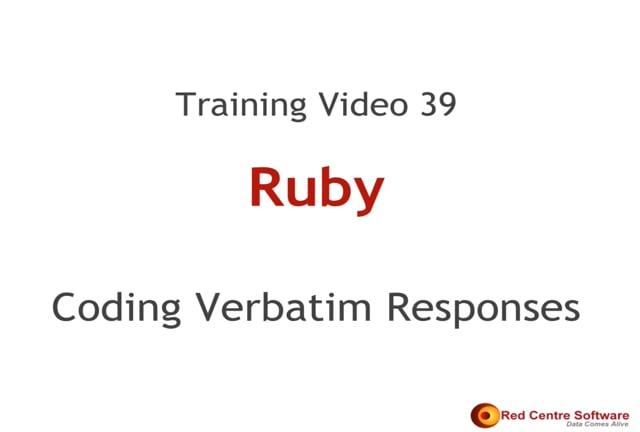 39. Coding Verbatim Responses