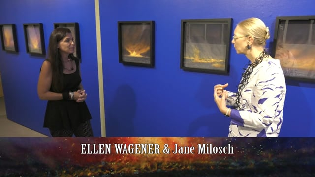 """""""Prairie Fires"""" Part of the No Ordinary Moments Exhibit by Ellen Wagener at the Dubuque Museum of Art"""