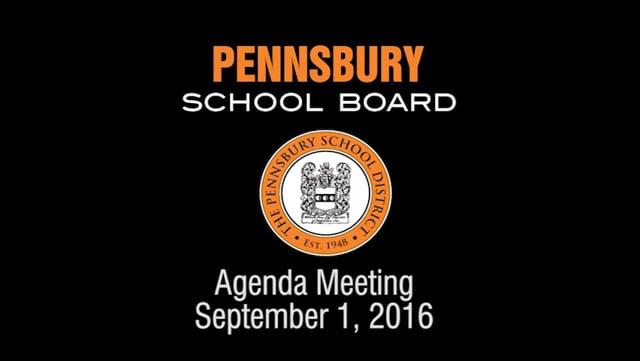 Pennsbury School Board Meeting for  September 1, 2016