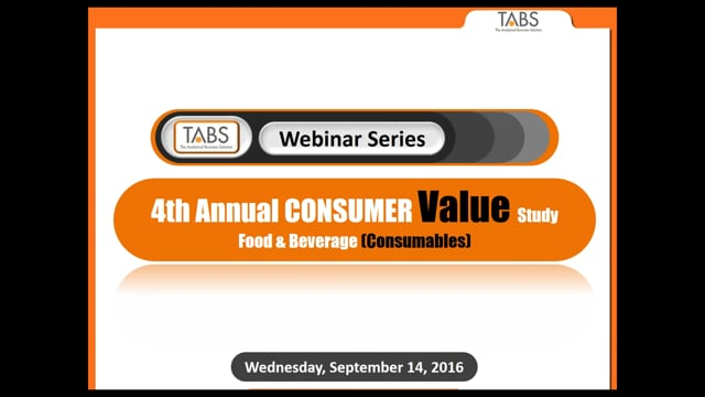 TABS 4th Annual Food and Beverage Study (09/14/2016)