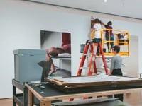 Wolfgang Tillmans' Folding, Refraction, Touch Installation Time-Lapse