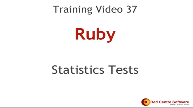 37. Statistics Tests