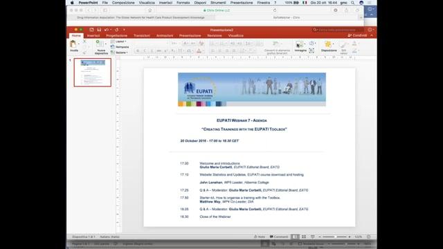 Creating Trainings with the EUPATI Toolbox