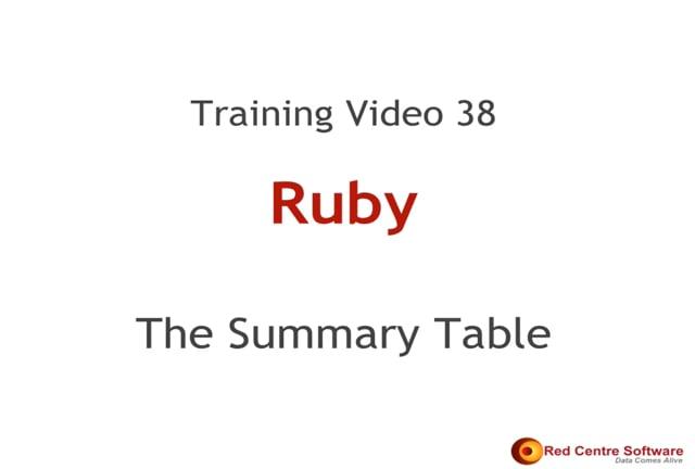 38. The Summary Table