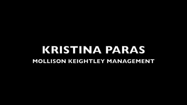 Showreel for Kristina Paras