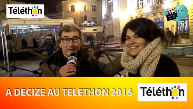 DECIZE FAIT SA TELE AU TELETHON 2016 ELODIE ANNONCE LE DEFILE