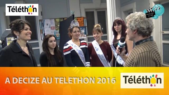DECIZE FAIT SA TELE AU TELETHON 2016 PRESENTATION DES MISS
