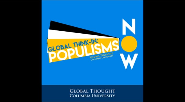 """Populisms Now<br /> October 31, 2016 · 6:30-8PM<br /> Columbia Journalism School, Pulitzer Lecture Hall<br /> <br /> John Judis on the U.S., Author of """"The Populist Explosion,"""" Columbia Global Reports<br /> Federico Finchelstein on Latin America, Author of """"From Fascism to Populism;"""" Professor of History, The New School<br /> Xiaobo Lu on China, Professor of Political Science, Barnard College<br /> Nadia Urbinati on Europe, Professor of Political Theory, Columbia University<br /> Lawrence Liang, Commentator, Co-founder Alternative Law Forum, Bangalore; Visiting Fellow, Yale University<br /> Carol Gluck, Moderator, George Sansom Professor of History; Chair of the Committee on Global Thought, Columbia University"""
