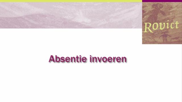 ESIS: Absentie invoeren