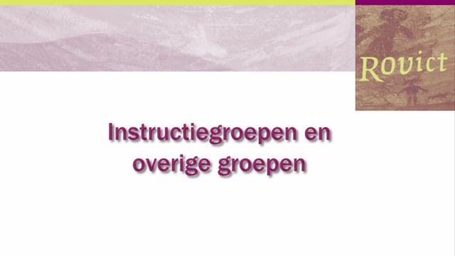 ESIS: Instructie en overige groepen