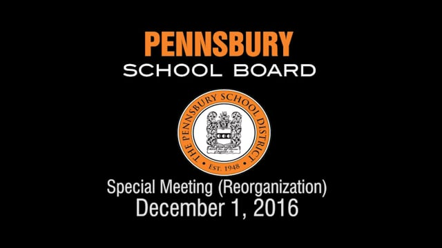 Pennsbury School Board Meeting for December 1, 2016