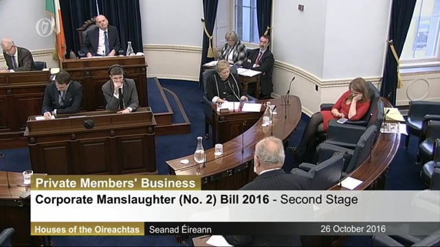 David Norris's Contribution to the Corporate Manslaughter (No2) Bill on 26th October 2016