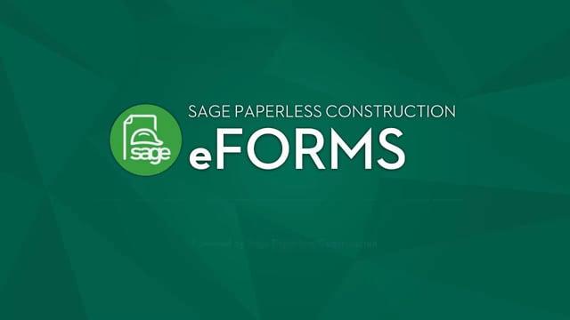 Sage Paperless eForms