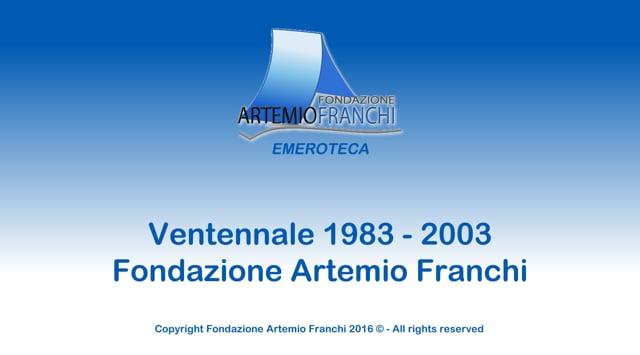 Ventennale Fondazione Artemio Franchi