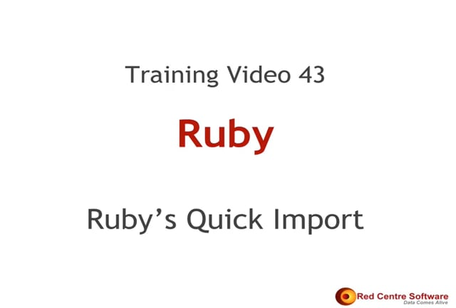 43. Ruby's Quick Import Tool