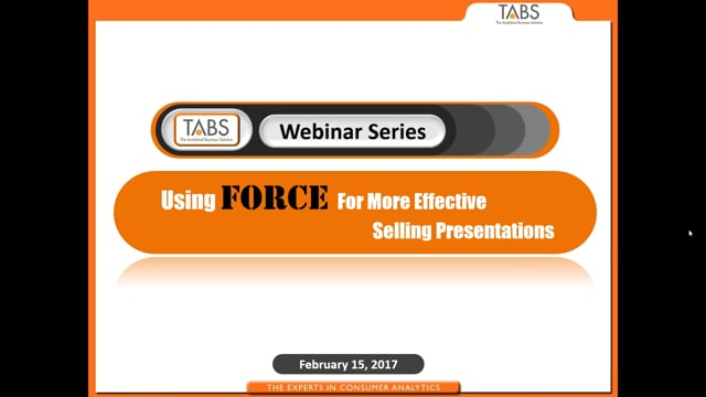 TABS Analytics Fact Based Selling Webinar (02/15/2017)