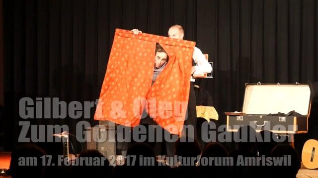 Rückblick: Gilbert und Oleg am 17. Februar 2017 im Kulturforum Amriswil