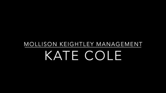 Showreel for Kate Cole