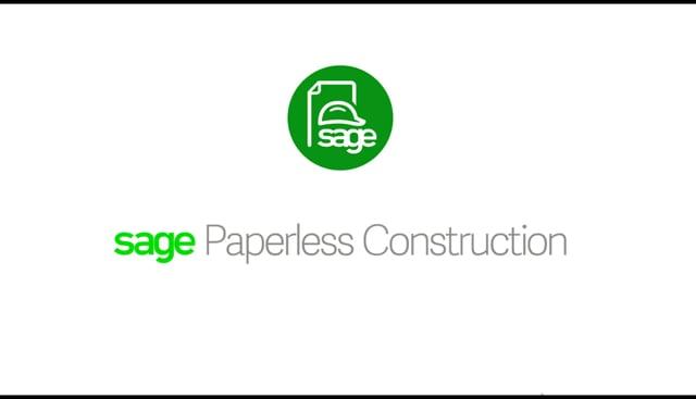 Sage Paperless Construction Demo