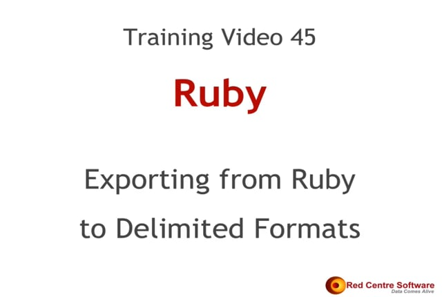45. Exporting from Ruby to Delimited Formats