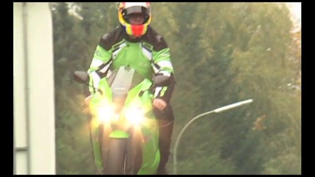 Blinder Motorradfahrer Ralf Mackel
