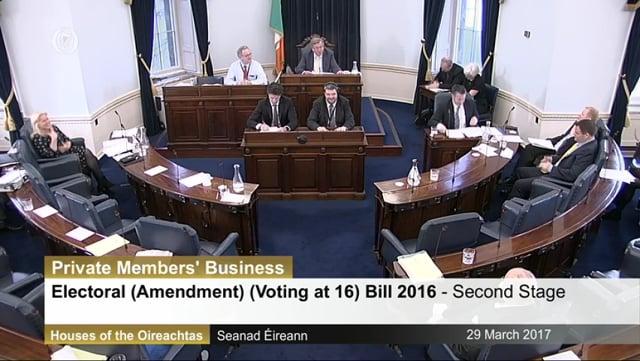 Electoral (Amendment) (Voting at 16) Bill 2016