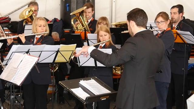 Stadtharmonie Amriswil kurz vor der jährlichen Unterhaltungsshow