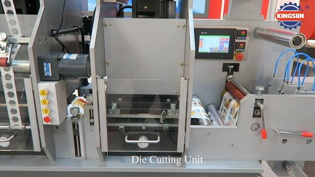 MYG-320 label hot stamping die cutting machine - Kingsun Machinery 2016
