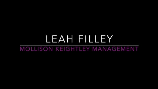 Showreel for Leah Filley