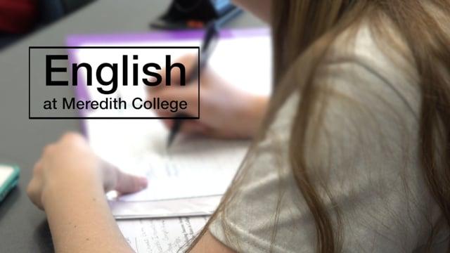 Meredith College English Final Draft