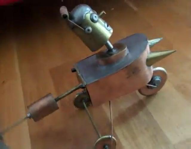 Bart simpson sur son triporteur a hélice